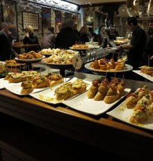 The pintxo a famous small basque sandwich
