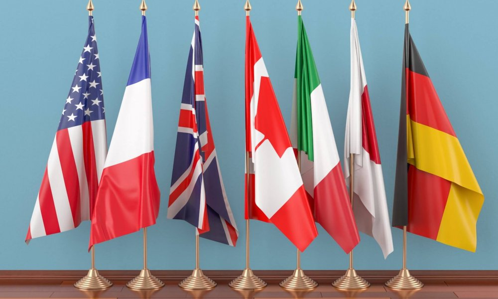G7 summit flags
