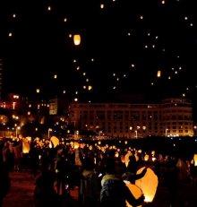 Celests lanterns in Biarritz